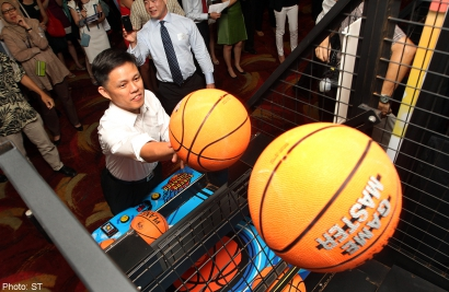 Shooting hoops and scoring for charity