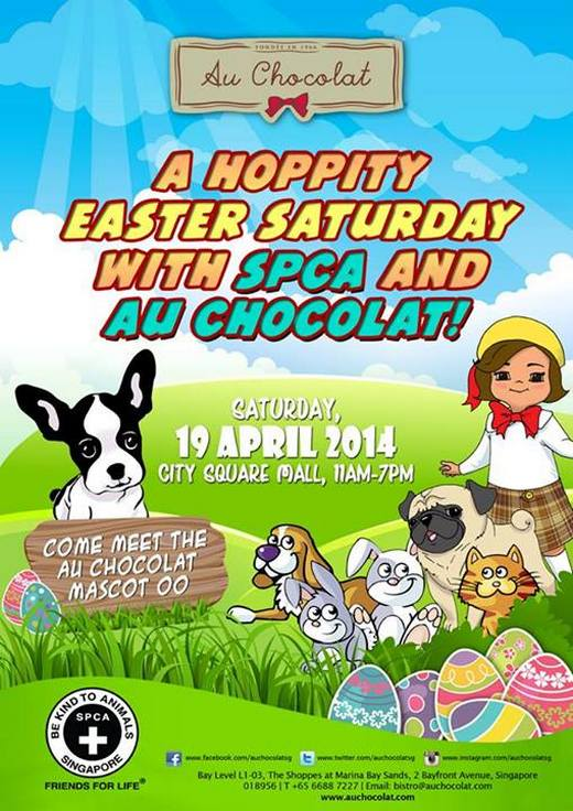 A Hoppity Easter Saturday with Au Chocolat and SPCA Singapore !