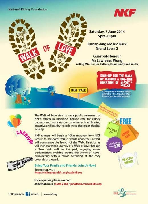 Calling Volunteers for NKF Walk of Love 2014