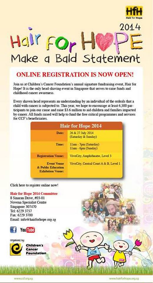 Hair for Hope 2014 Online Registration is now open!