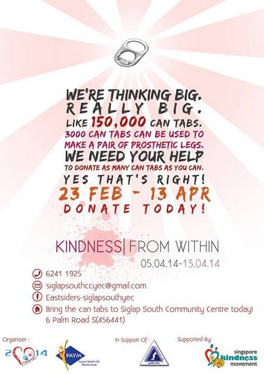 Kindness Week 2014 - Can Tabs Needed!