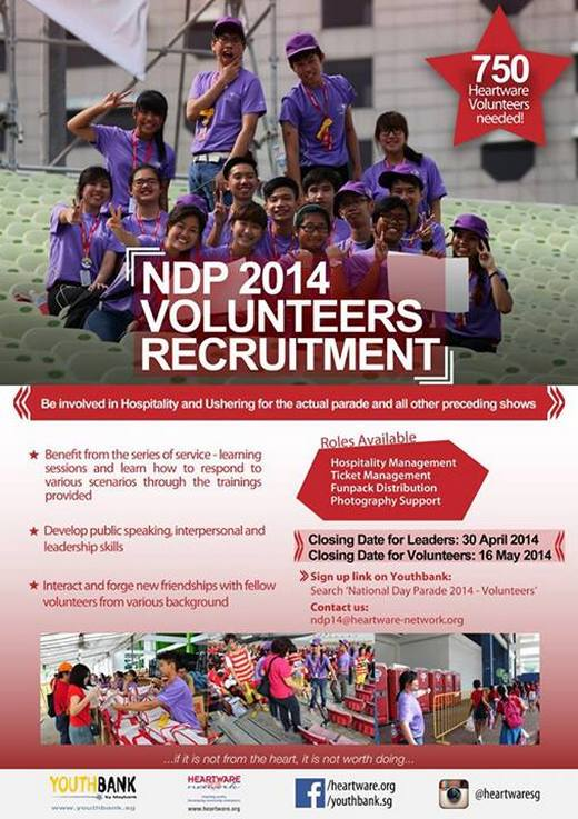 National Day Parade 2014 Volunteers Recruitment