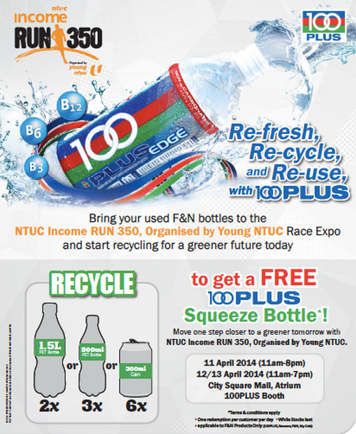 Refresh, Recycle and Reuse with 100PLUS