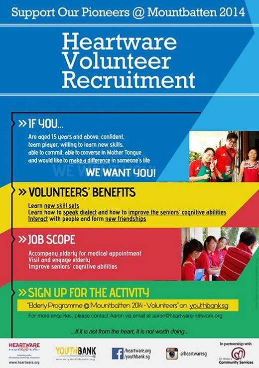 Volunteers Needed for Support Our Pioneers @ Mountbatten 2014