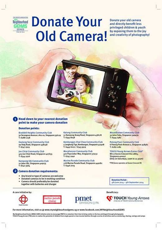Donate your old camera!