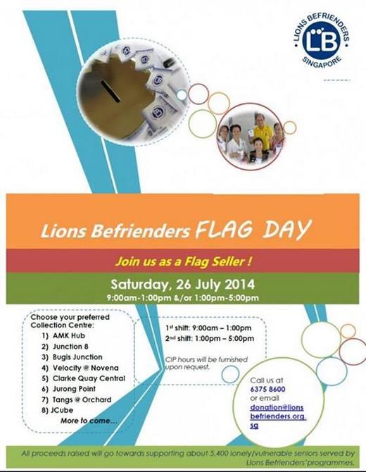 Lions Befrienders Flag Day 2014