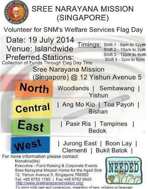SNM Welfare Services Flag Day 2014