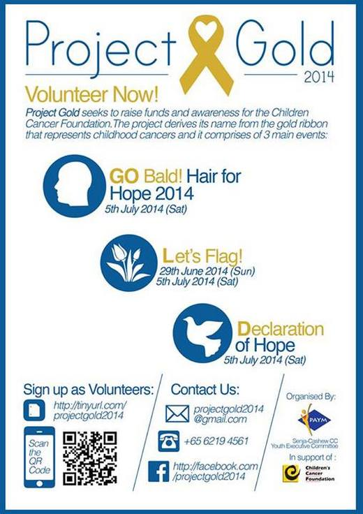 Volunteer Recruitment for Project Gold 2014
