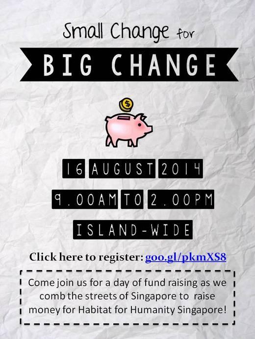 Volunteers for Habitats Flag Day (Small Change for Big Change)