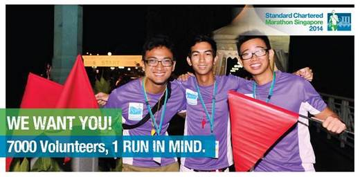 Volunteer for Standard Chartered Marathon Singapore 2014
