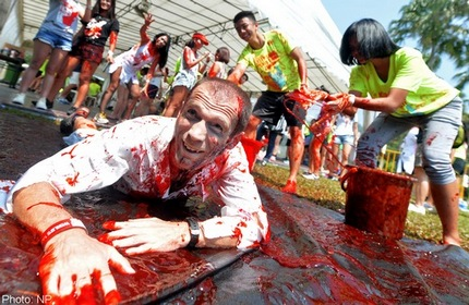 Disabled participants get in on Halloween fun at zombie race