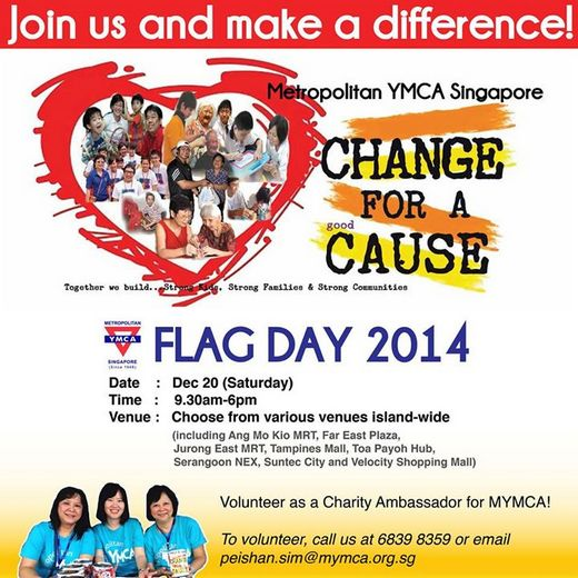 Metropolitan YMCA Singapore Flag Day 2014
