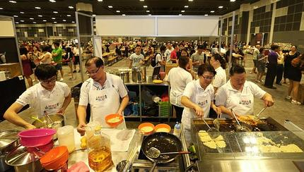 Old and new hawkers dish up the goods for charity