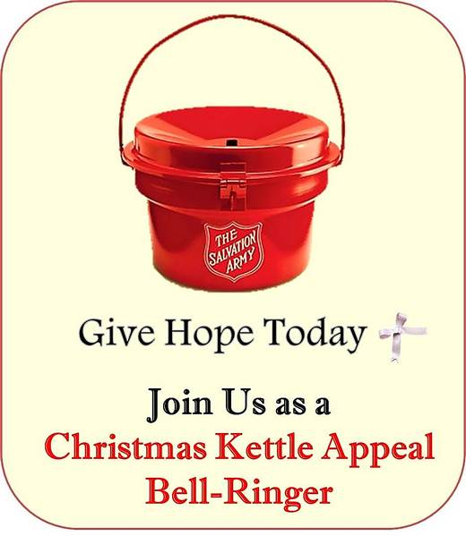 Recruiting Volunteers for Christmas Kettle Appeal 2014