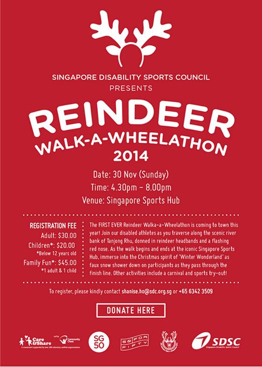 Reindeer Walk-a-Wheelathon 2014