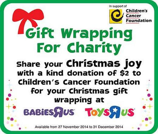 Toys'R'Us Gift Wrapping for Charity