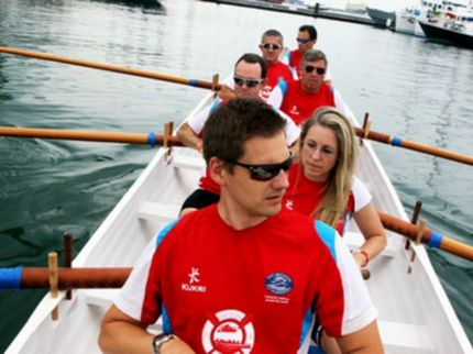 A round-the-island row for charity