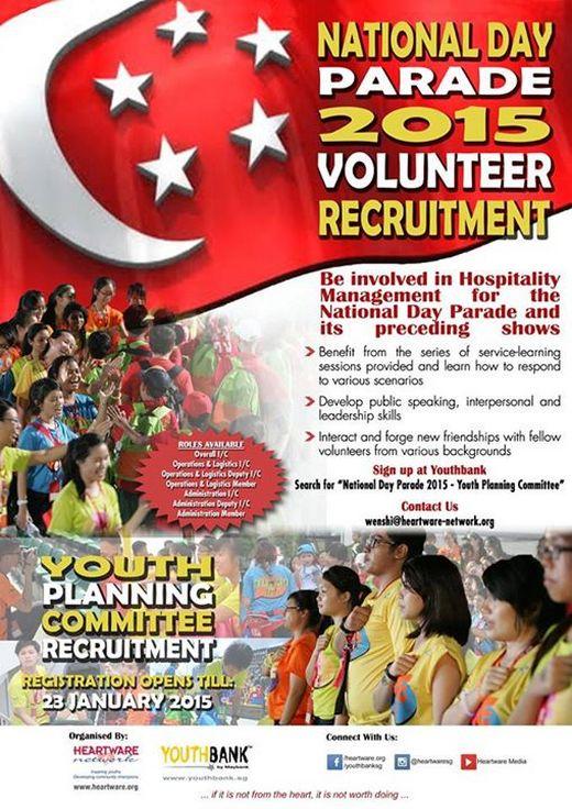 National Day Parade 2015 Volunteer Recruitment