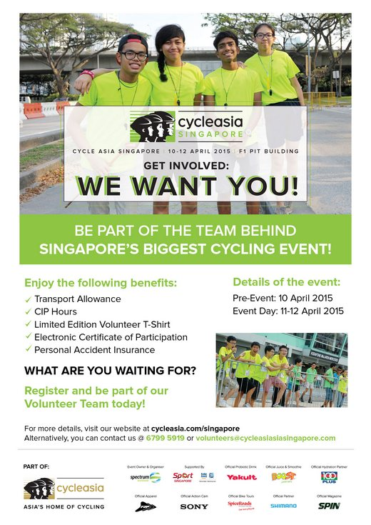 Volunteer for Cycle Asia Singapore 2015