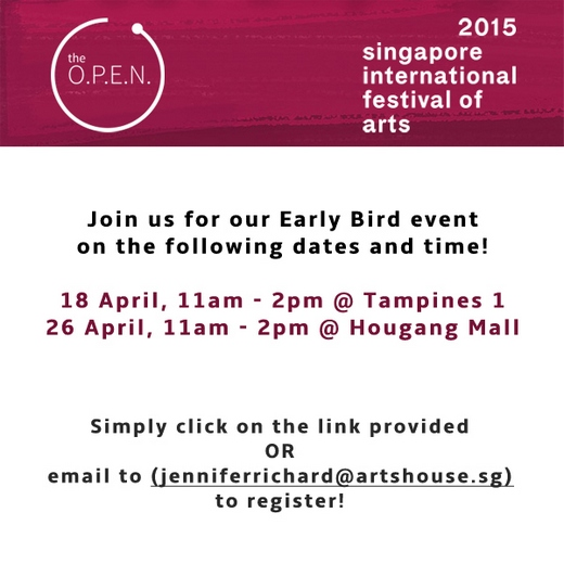 Calling for Volunteers for Singapore International Festival of Arts!