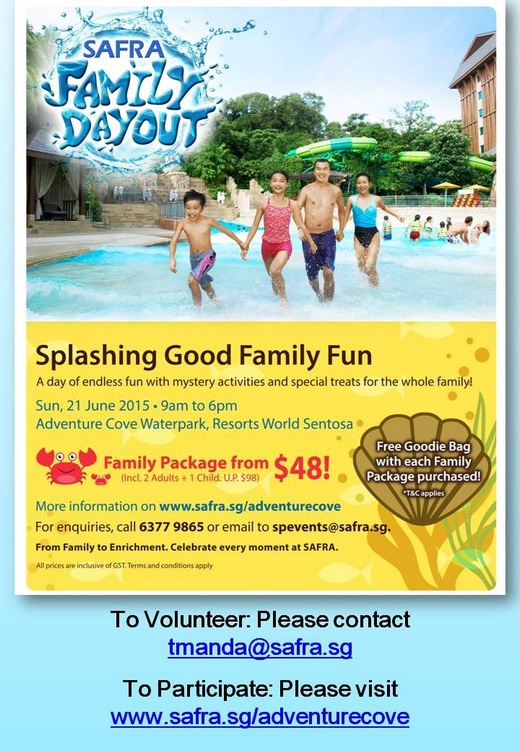 SAFRA Family Day Out Volunteer Recruitment
