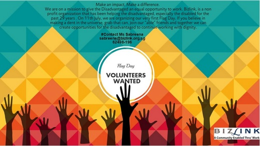 Volunteers Wanted for Bizlink Flag Day 2015