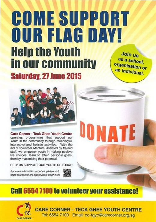 Care Corner – Teck Ghee Youth Centre Flag Day 2015
