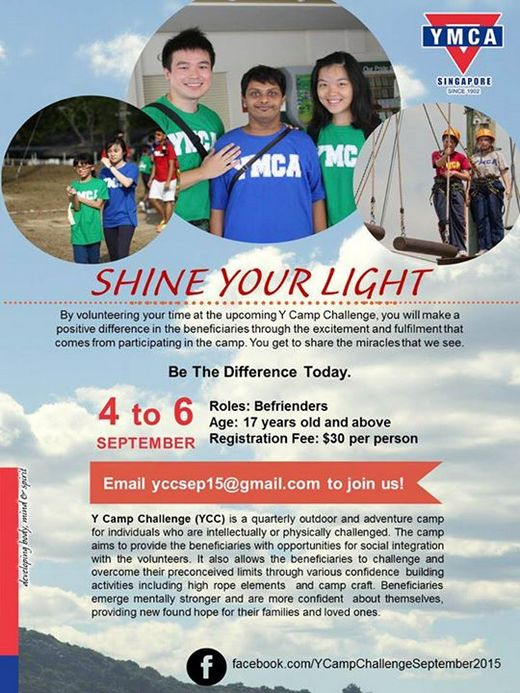 Y Camp Challenge 2015 Volunteers Recruitment