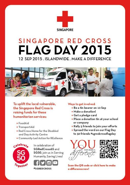 Singapore Red Cross Flag Day 2015