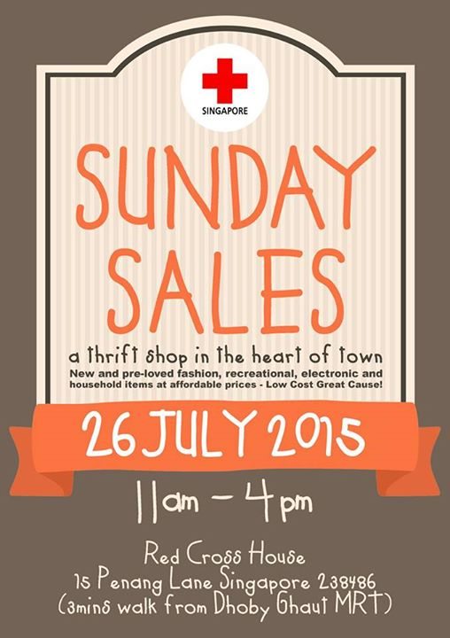 Singapore Red Cross Sunday Sale (26 July 2015)