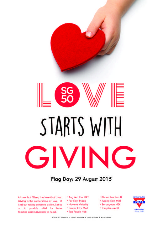 YMCA Flag Day 2015 Love Starts With Giving