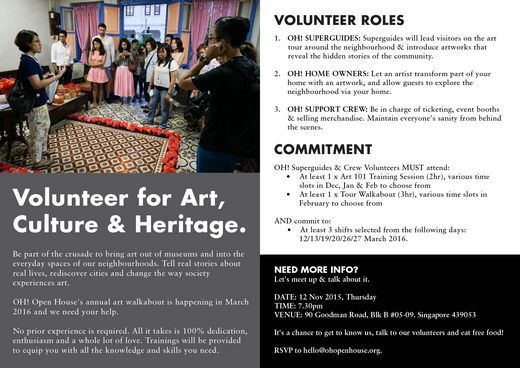Volunteer for Art, Culture & Heritage