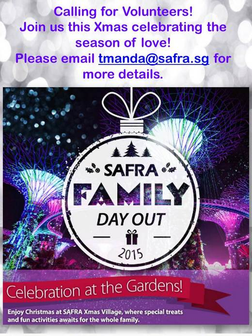 Volunteer Recruitment for SAFRA Family Day Out 2015