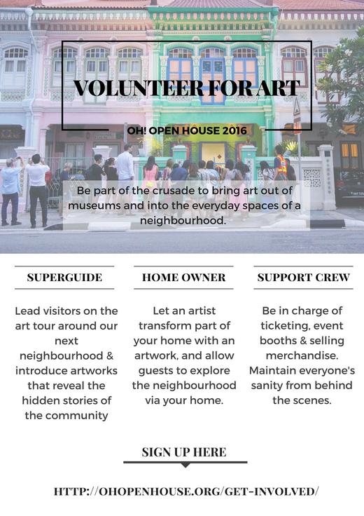 OH! Open House 2016 Volunteer Recruitment 1
