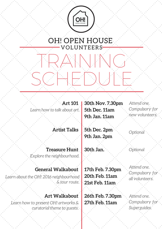 OH! Open House 2016 Volunteer Recruitment 2
