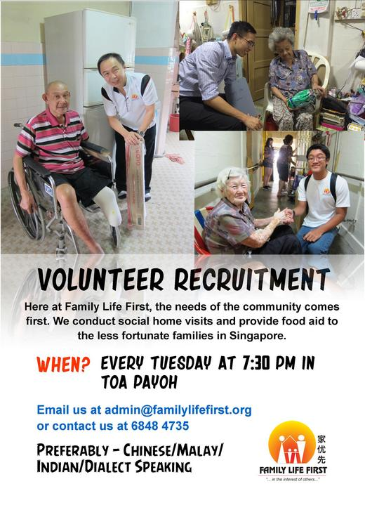 Volunteer Recruitment for Elderly Needy Families Programme