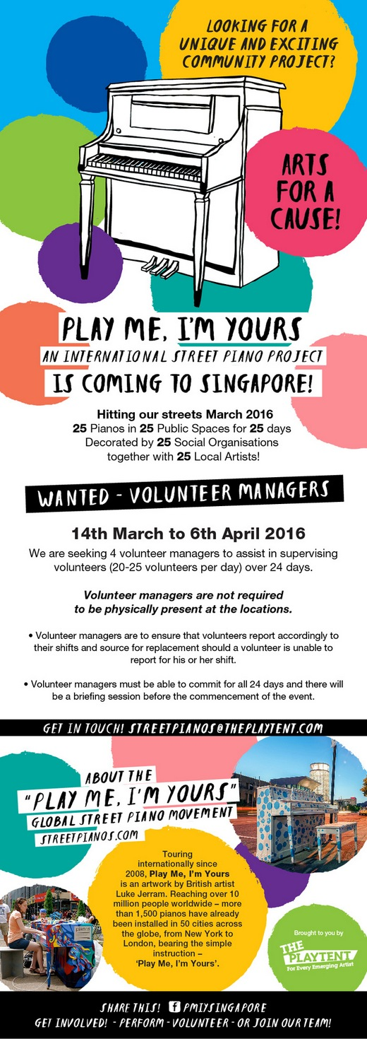 Volunteers needed for a Nationwide Community Arts Project