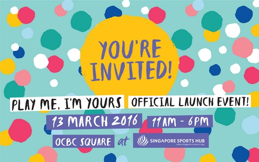 Volunteers needed for Play Me, I'm Yours Singapore 2016 Launch Event