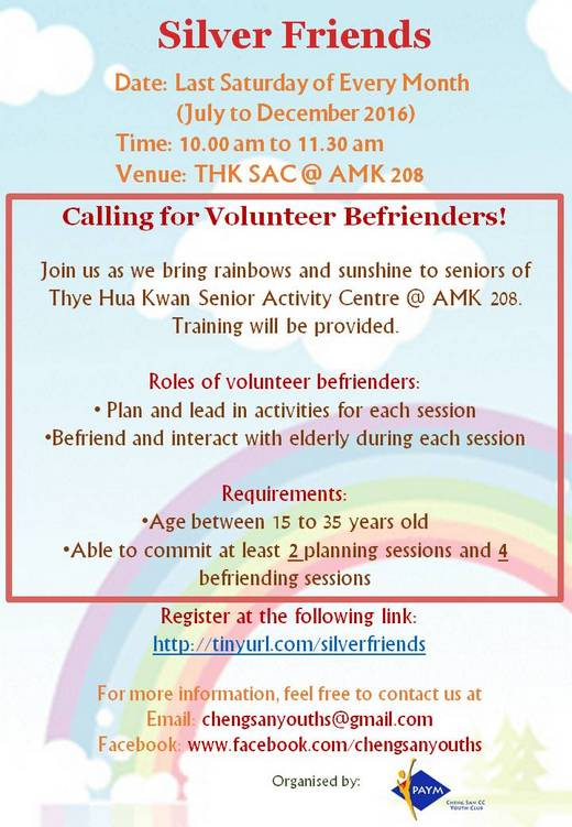 Calling for Volunteers Befrienders