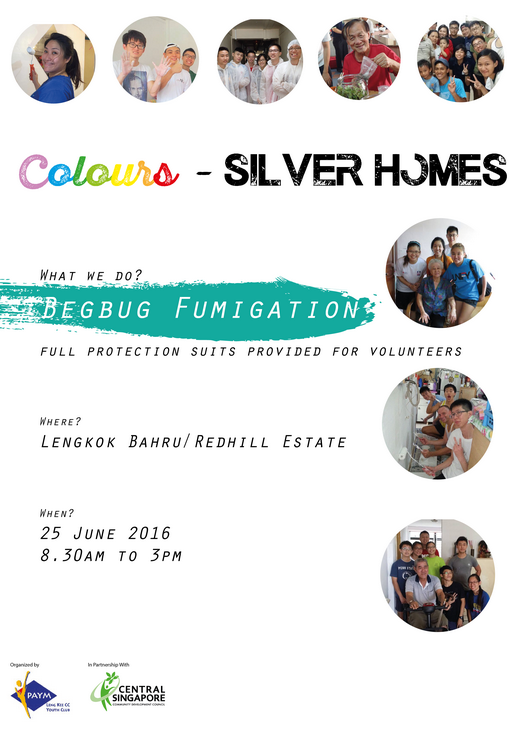 Volunteers needed for Colours Community Service Project (25 Jun 2016)