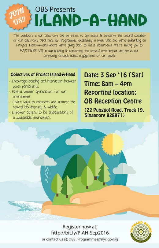 Project IsLand-A-Hand with Outward Bound Singapore