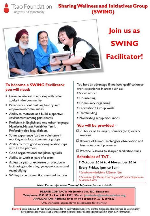 Volunteer as SWING Facilitator